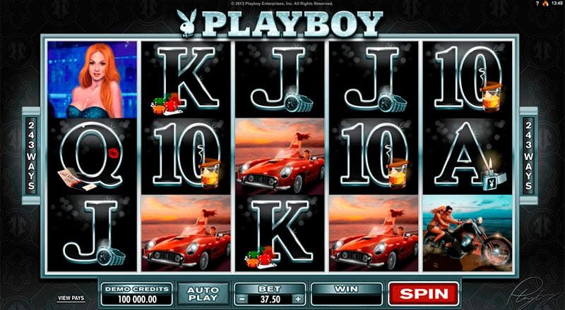 Интерфейс игры в руме Покердом Playboy onlie